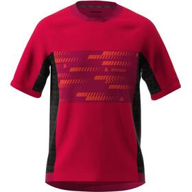 Zimtstern TechZonez Maglietta a Maniche Corte Uomo, rosso